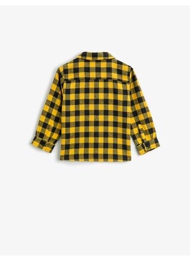 Koton Kareli Klasik Yaka Uzun Kollu Gömlek Sarı